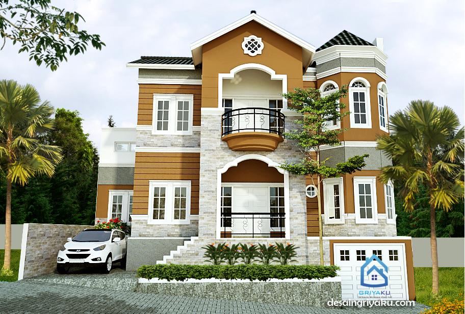 Rumah 14×11 Mediterania 2 lantai