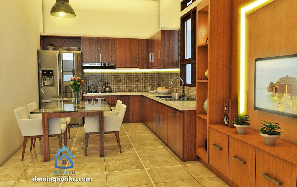 interior rumah 13x18 tropis dapur