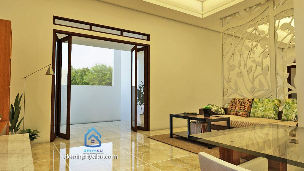 desain interior tropis 3 1024x576 - Rumah 13x18 Tropis 1 lantai