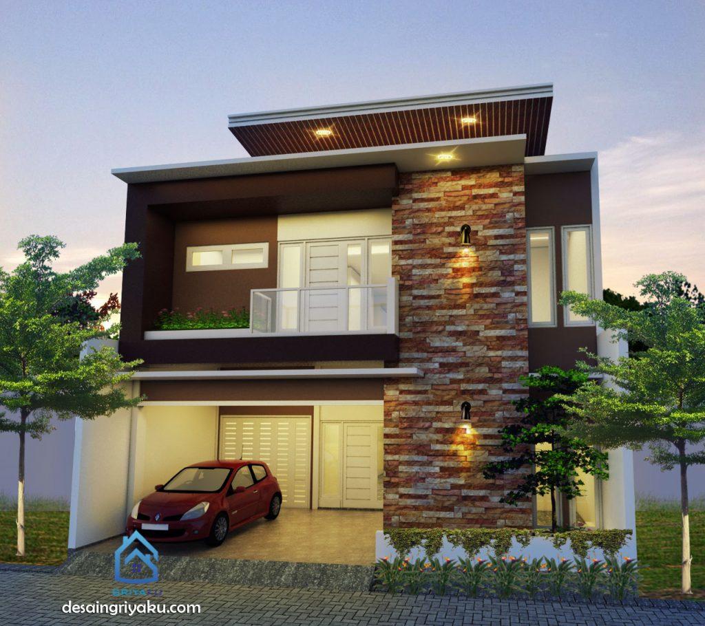 Fasad Rumah 10x15 Minimalis 2 lantai