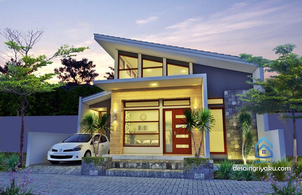 desain rumah 10x12 minimalis 1l lantai