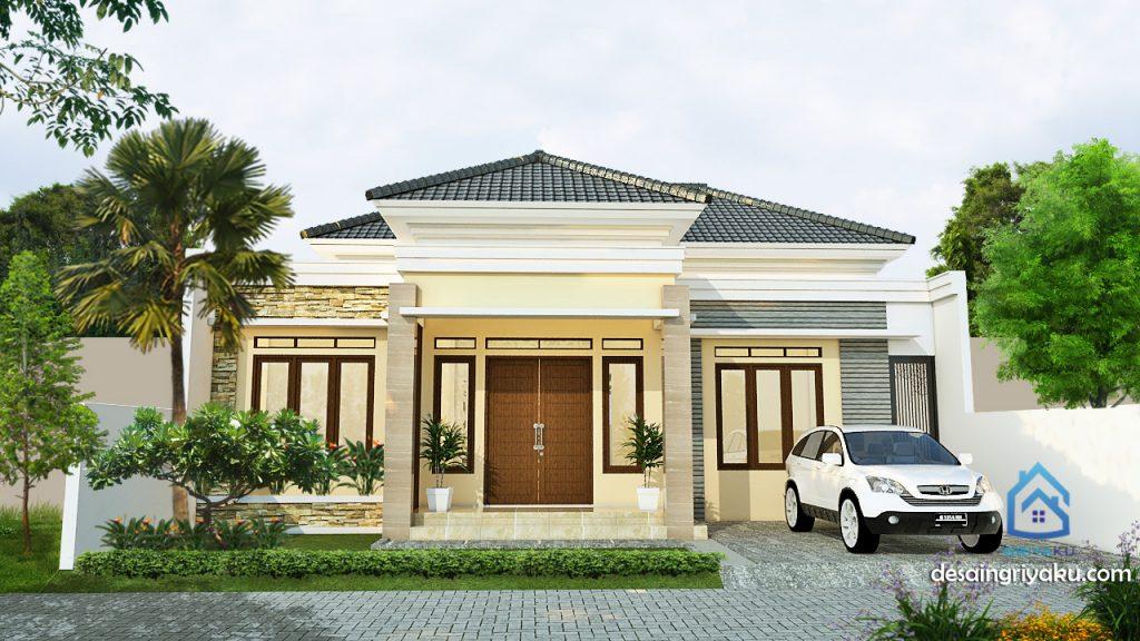 rumah 13x18 tropis 1024x576 - Rumah 13x18 Tropis 1 lantai