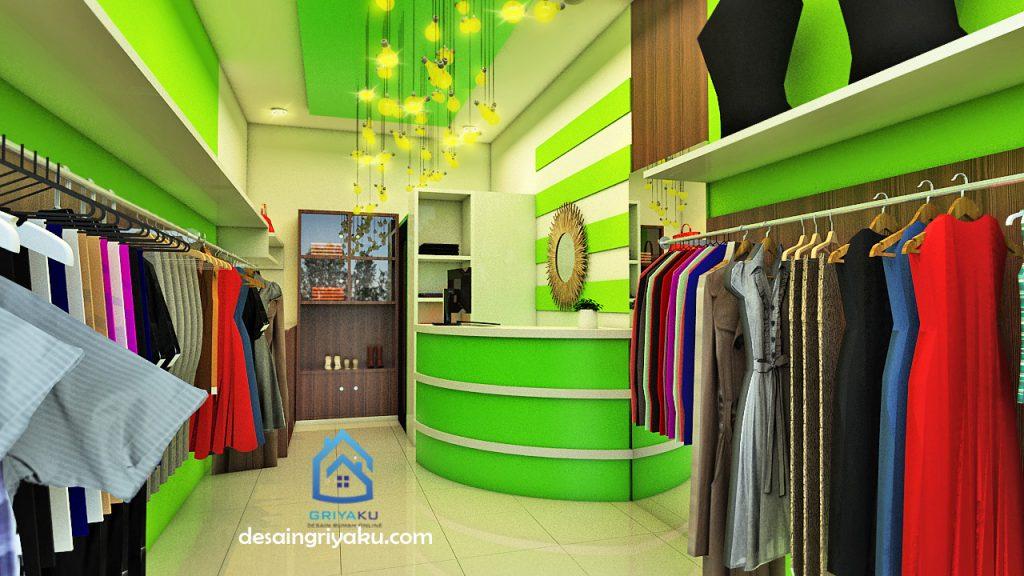 interior toko baju lebar 3 meter