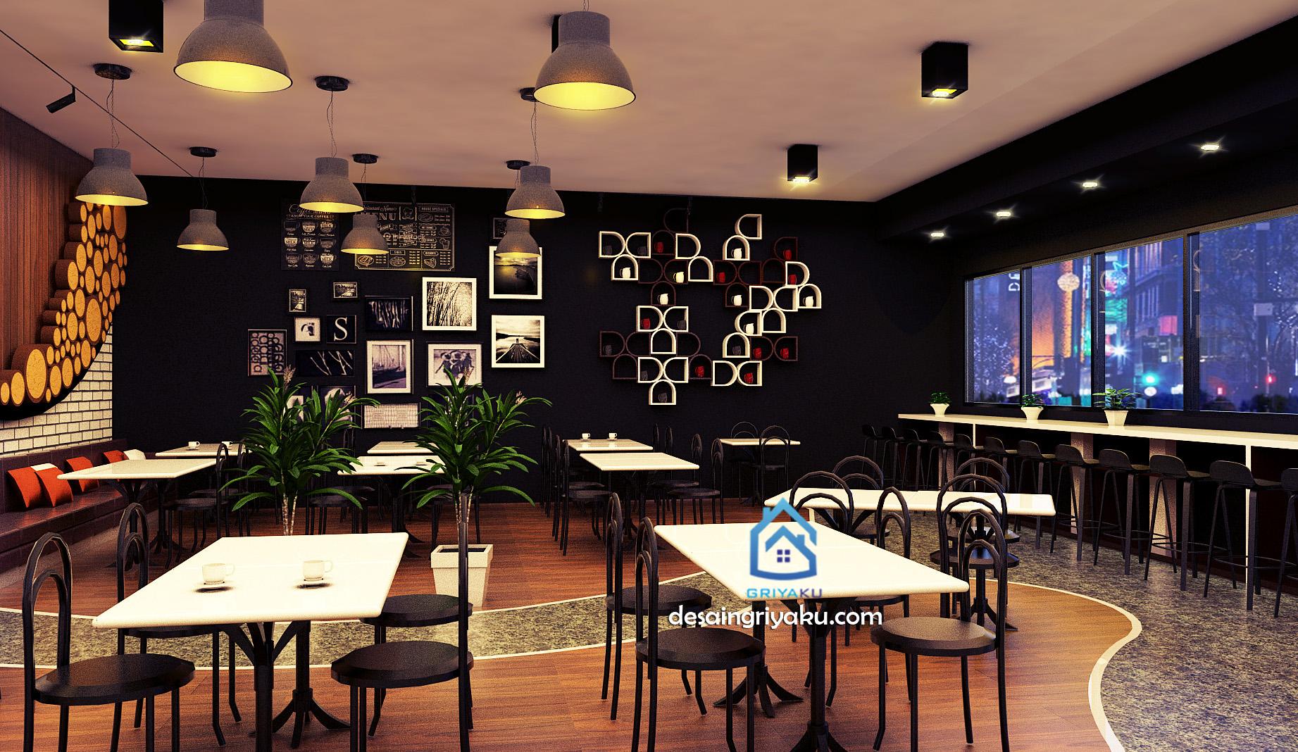 desain cafe bergaya industrial 2