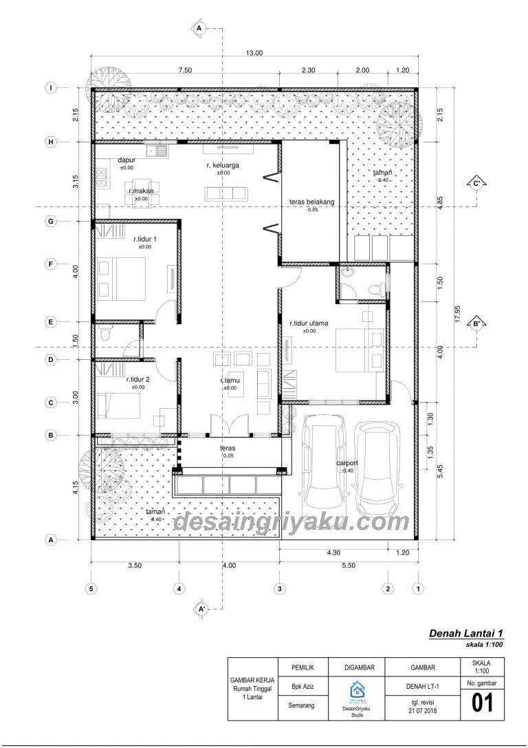 contoh denah lantai 1