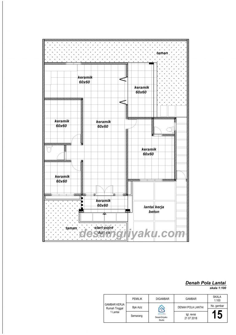 contoh denah pola lantai