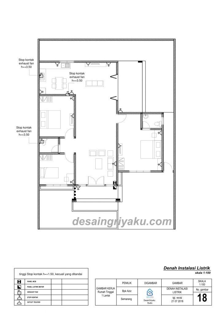 Contoh 18 Listrik 1 Jasa Desain Rumah Online