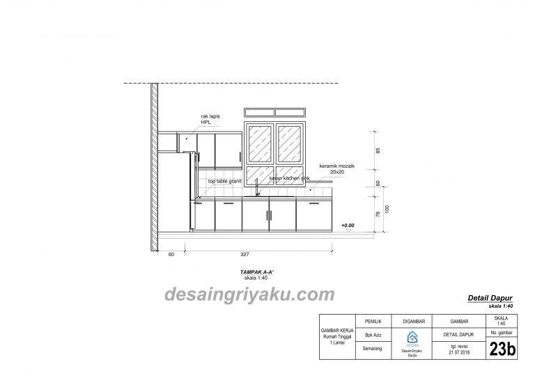 contoh detail dapur