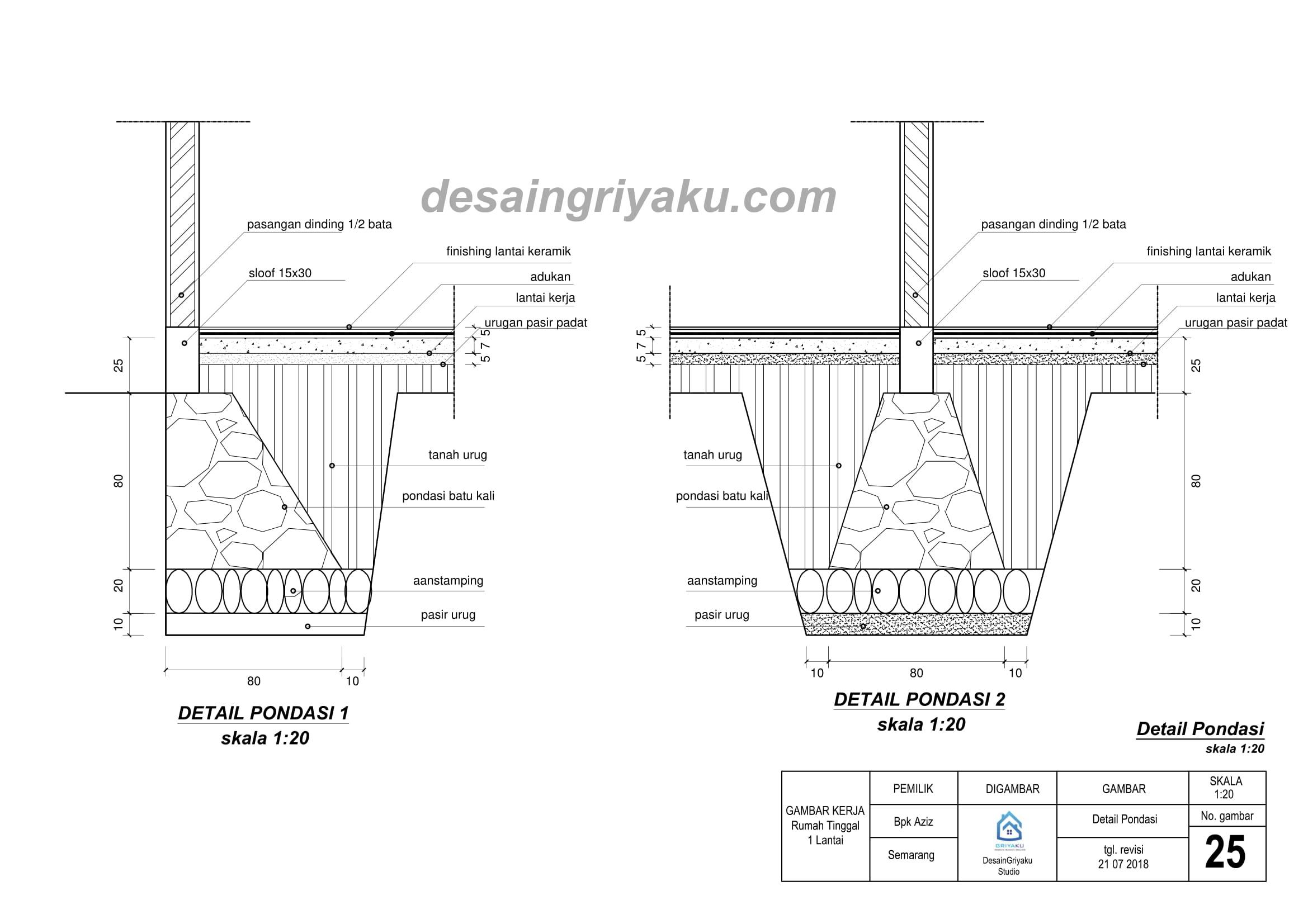 contoh detail pondasi