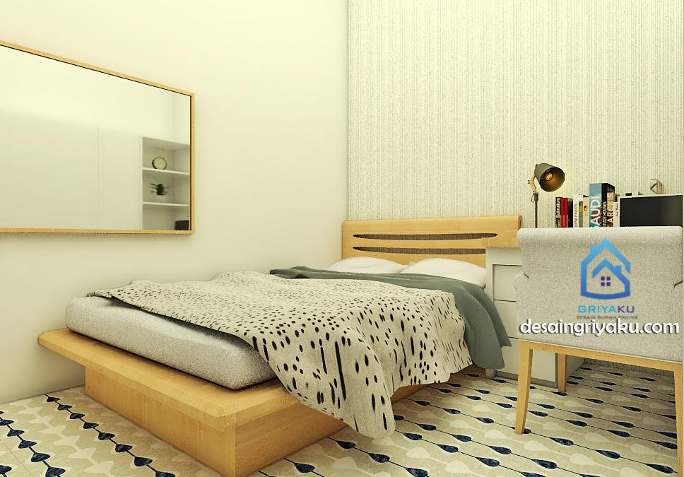 interior ruang tidur rumah 8x15 tipe 83