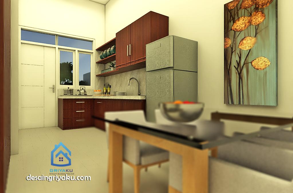 interior dapur rumah 8x15 tipe 83