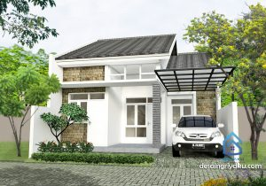Rumah 8×15 Minimalis 1 lantai