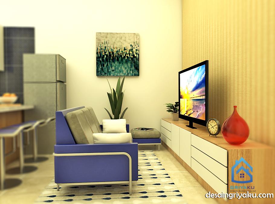ruang keluarga rumah tipe 60
