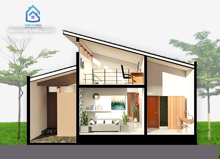 98+ Gambar Potongan Rumah Minimalis Lantai 2 HD Terbaru
