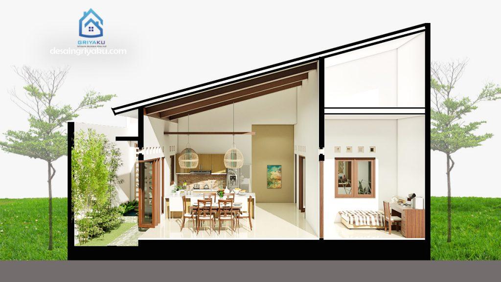potongan rumah 10x17 minimalis 1 lantai 1024x576 - Rumah 10x17 Minimalis 1 Lantai