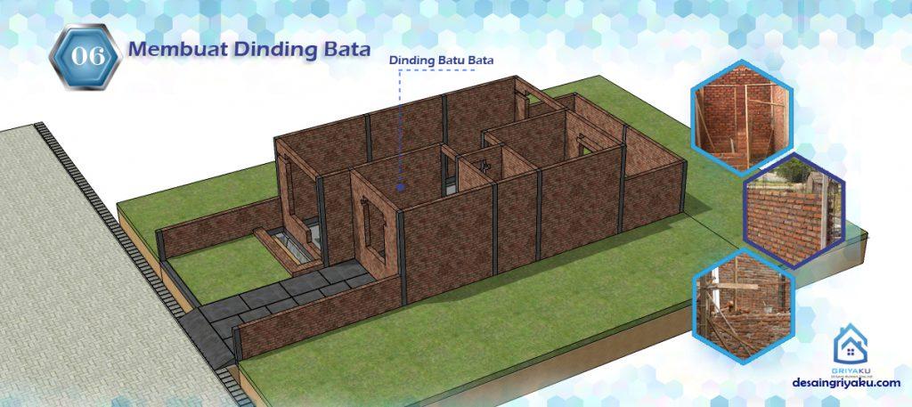 tahap pemasangan dinding