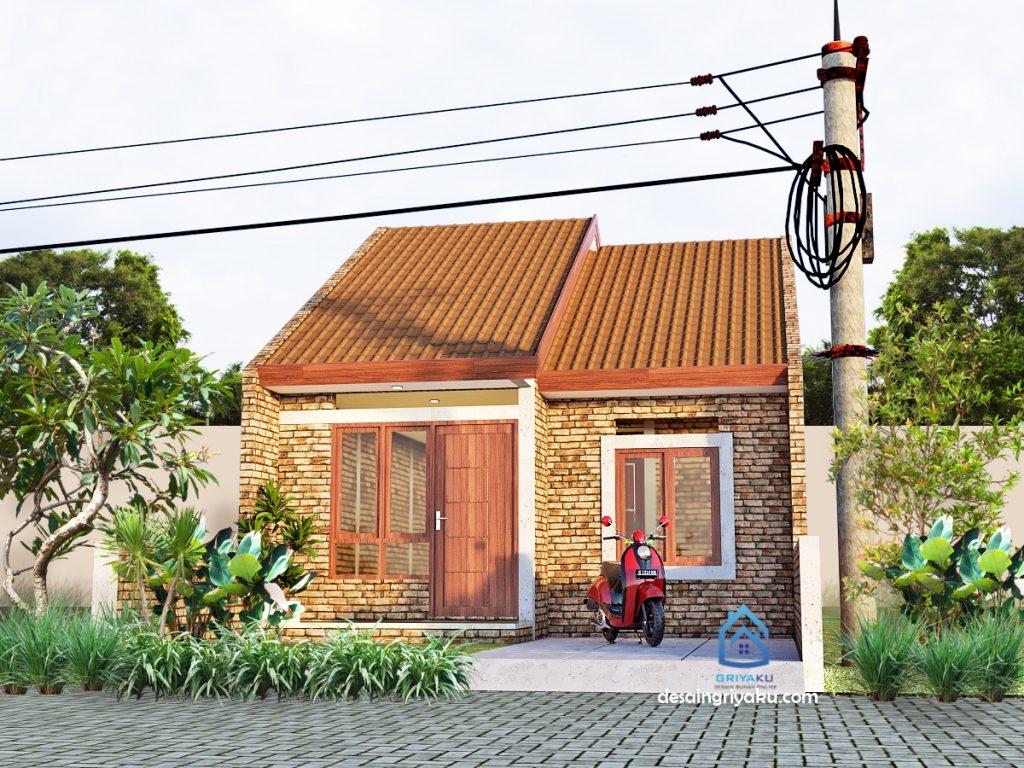 desain rumah 6x15 sederhana etnik