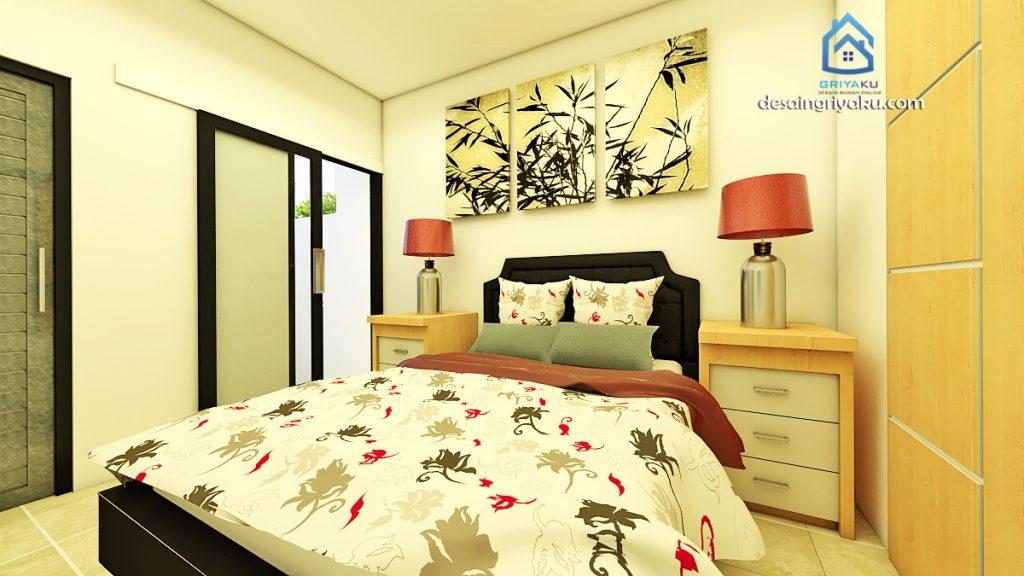 interior rumah 3x15 minimalis kamar tidur utama