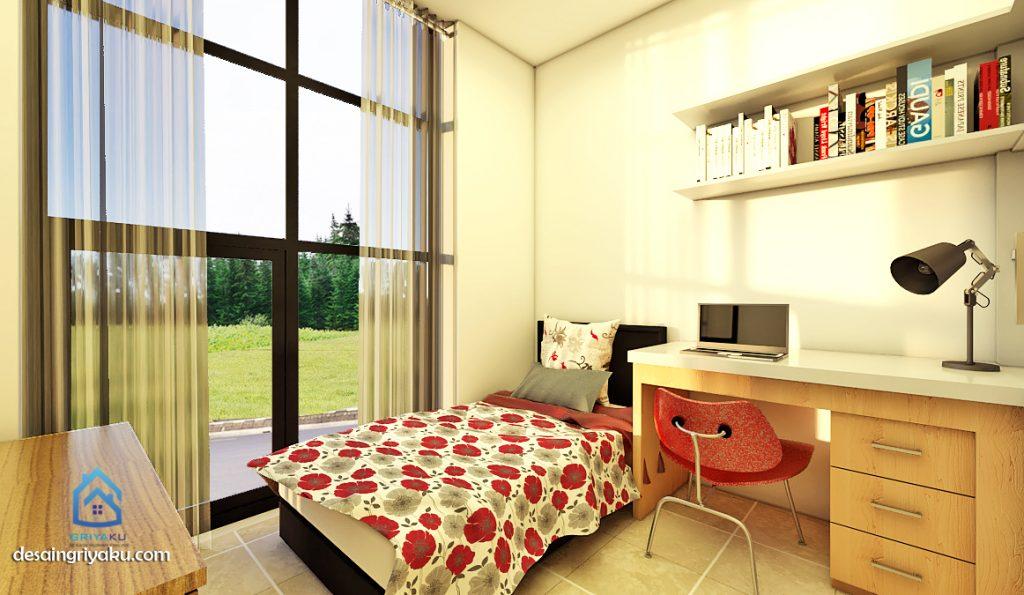 interior rumah 3x15 minimalis kamar anak