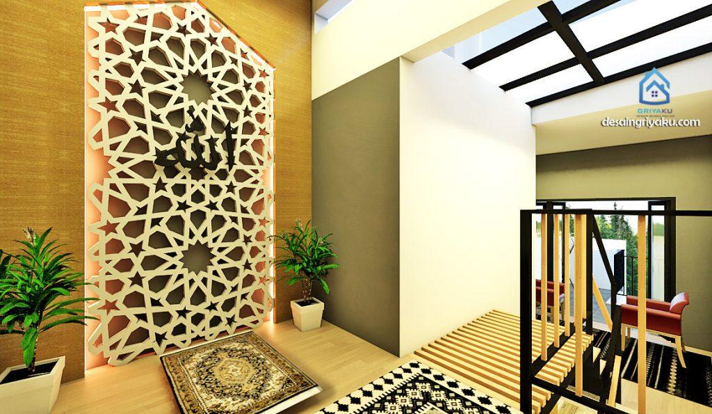 interior rumah 3x15 minimalis mushola
