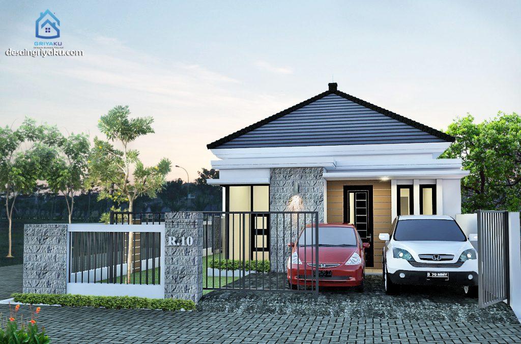 rumah 10x17 tropis 1024x676 - Rumah Lebar 10 meter