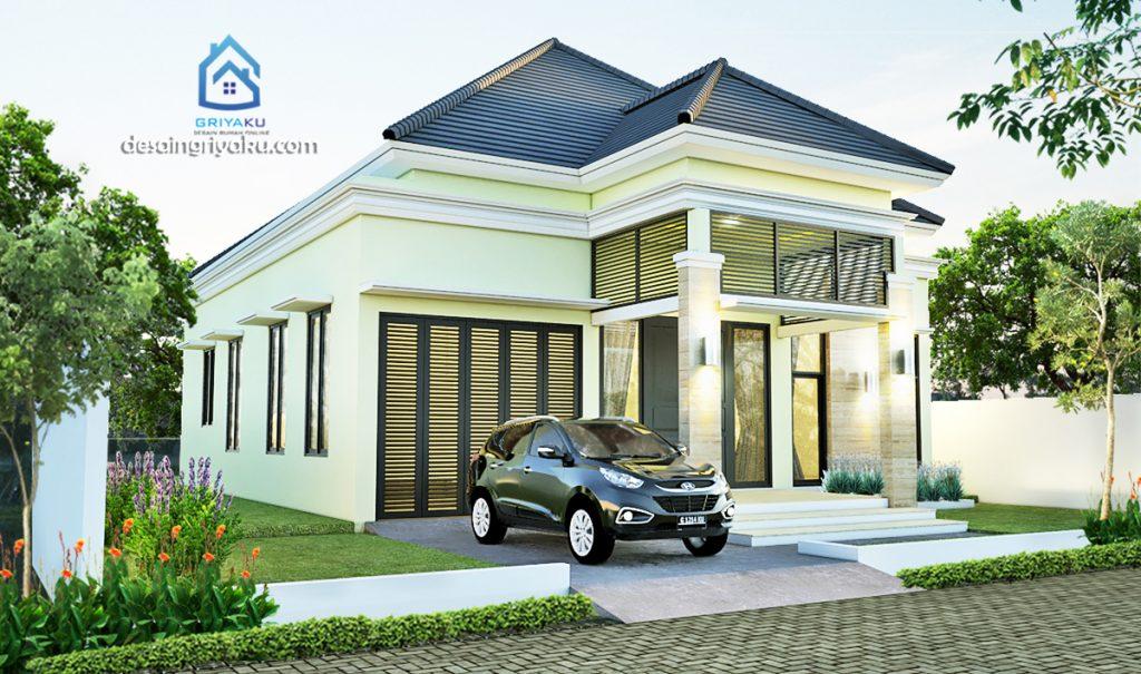 rumah 17x18 tropis 1024x605 - Rumah Lebar diatas 10 meter