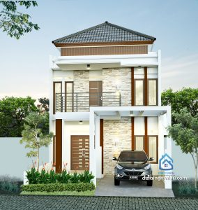 rumah 7x15 minimalis 284x300 - Rumah Lebar 9 meter