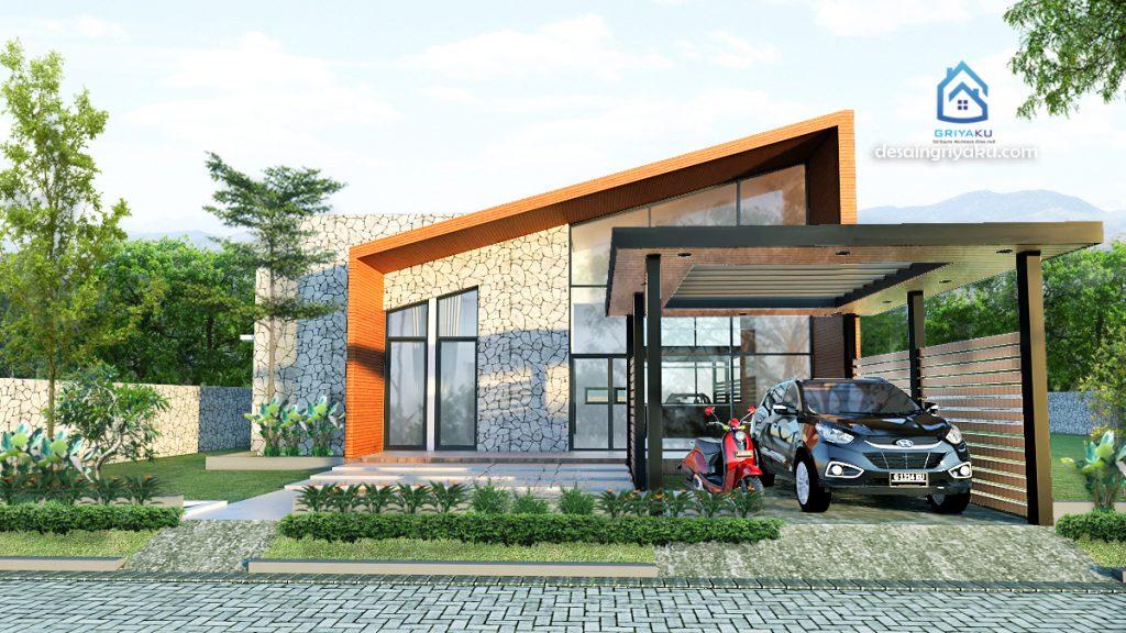 rumah 15x17 kontemporer 1024x576 - Rumah Lebar diatas 10 meter