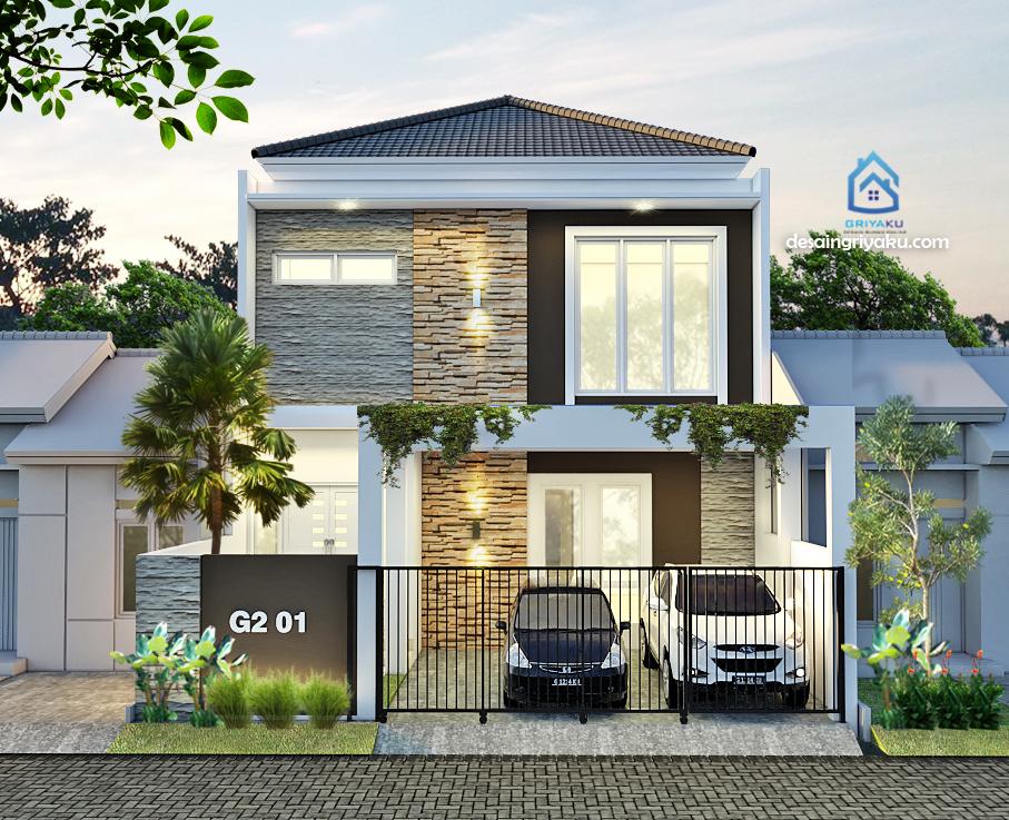 rumah 9x17 minimalis - Rumah Lebar 9 meter