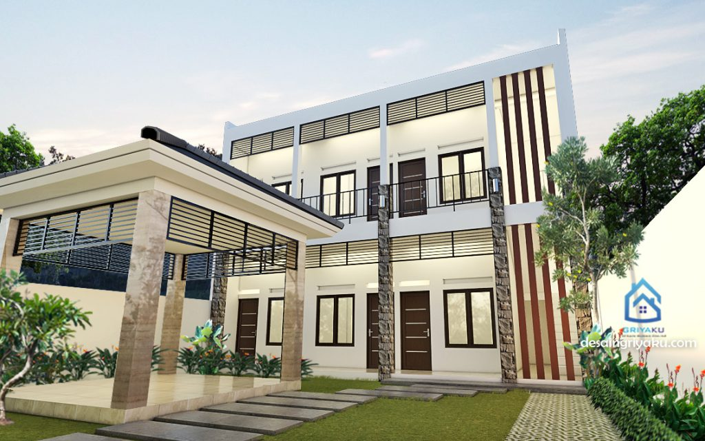 rumah kos 11x32 tropis minimalis 2 1024x640 - Rumah Kost