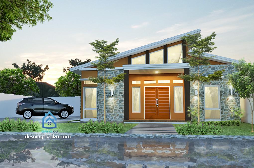 rumah 10x9 kontemporer - Rumah Lebar 10 meter