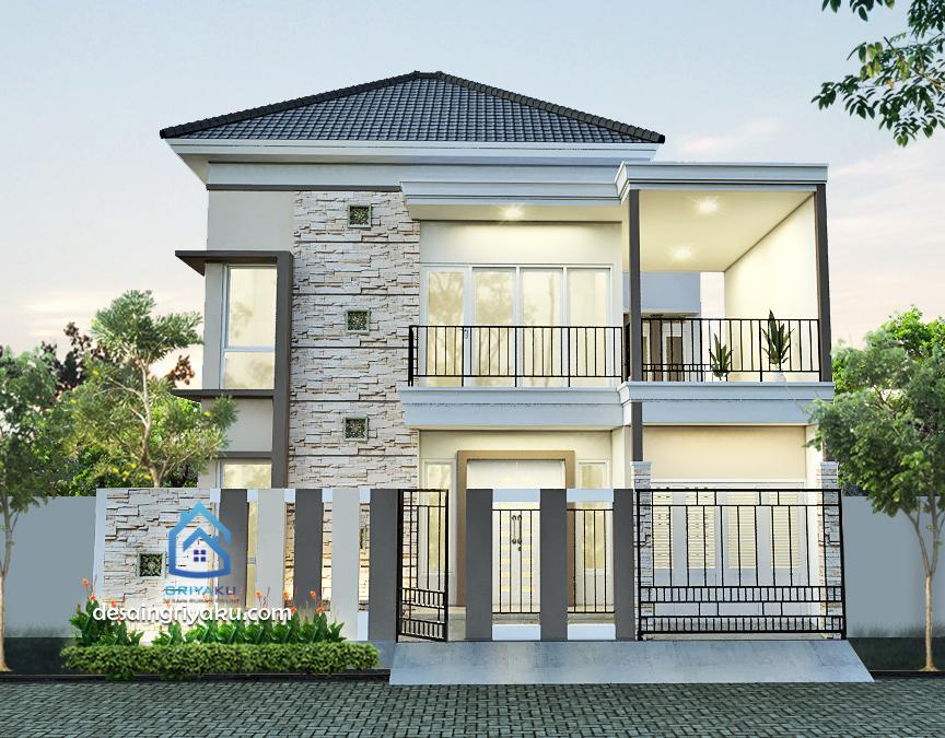 rumah 11x11 tropis minimalis - Rumah Lebar diatas 10 meter