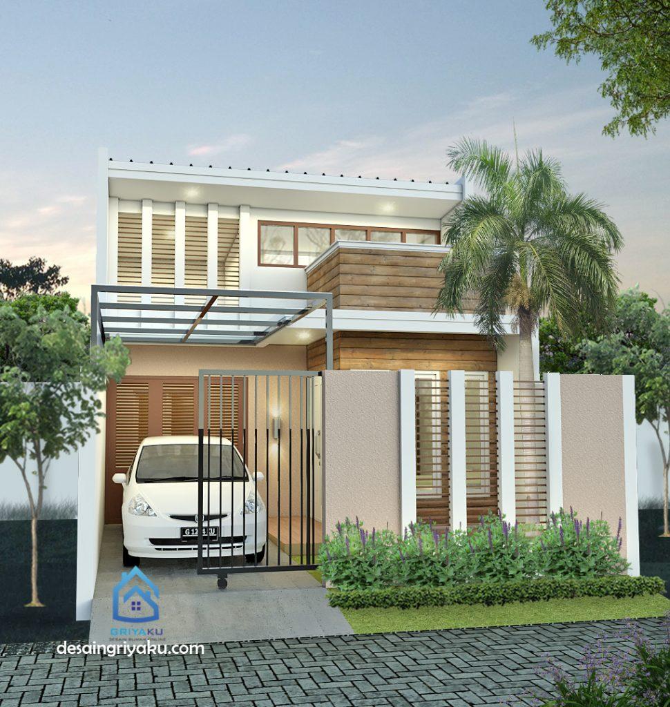 rumah 6x21 kontemporer 970x1024 - Rumah Lebar 6 meter