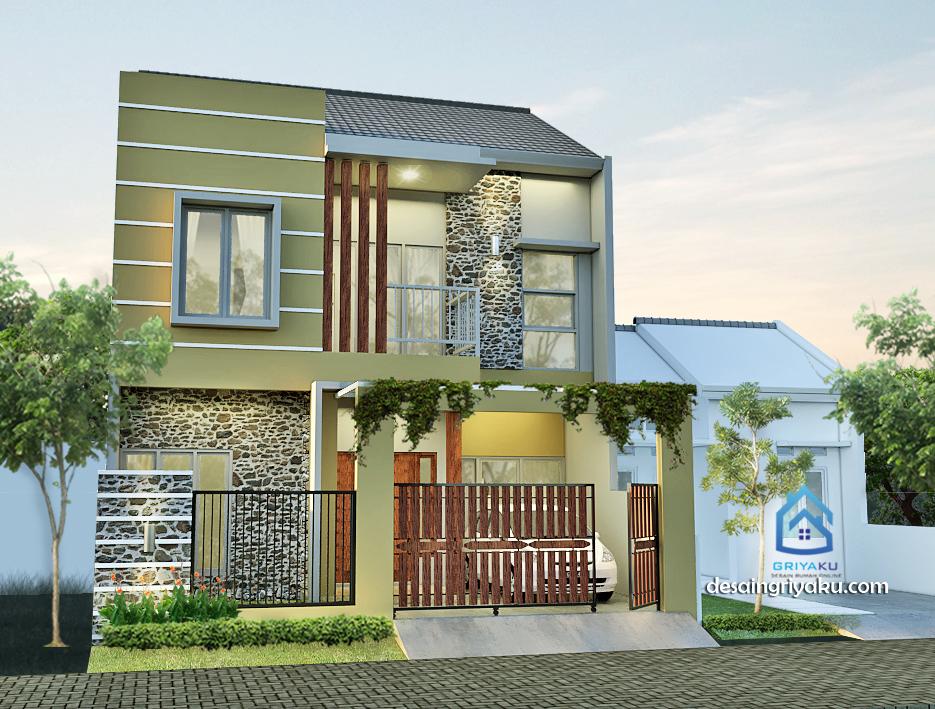 rumah 8x11 minimalis - Rumah Lebar 8 meter