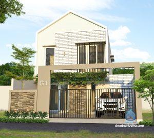 rumah 8x15 minimalis 2 lantai 300x269 - Rumah Lebar 9 meter