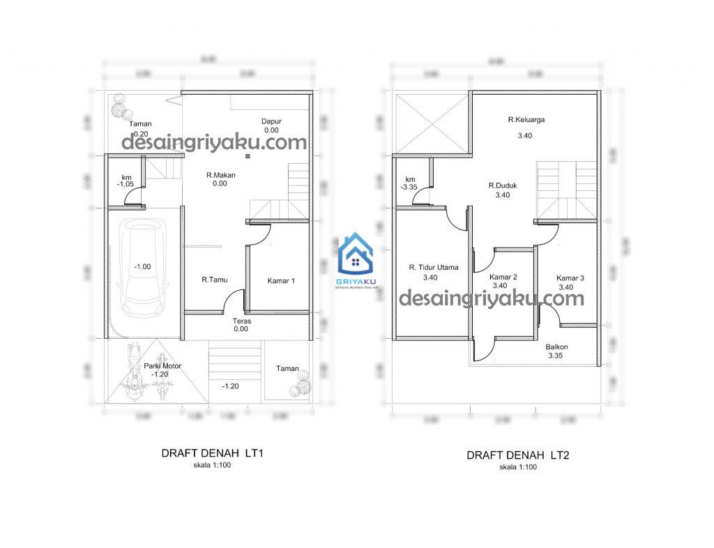 denah awal 1024x786 - Proses Tahapan Desain Rumah
