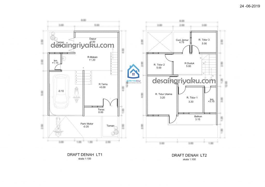 denah fix 1024x724 - Proses Tahapan Desain Rumah