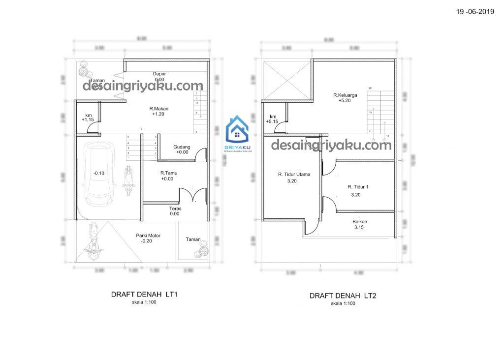 denah revisi 1 1024x724 - Proses Tahapan Desain Rumah