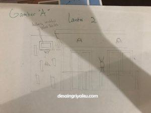 sketsa revisi 2 300x225 - Proses Tahapan Desain Rumah