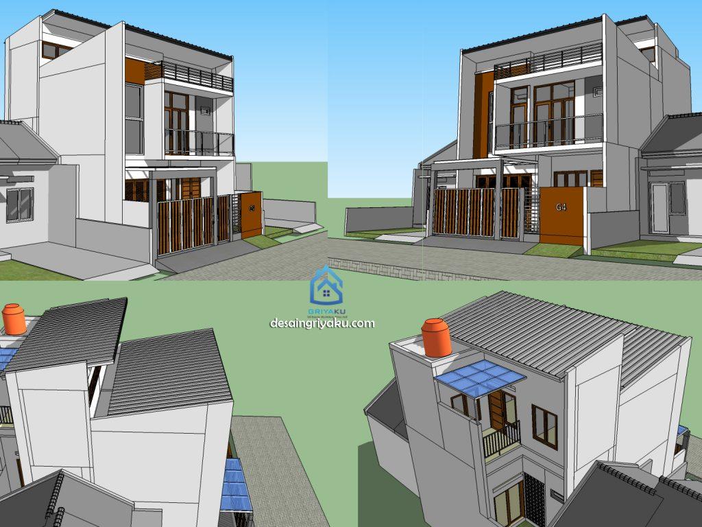 tahap desain tampak 1024x768 - Proses Tahapan Desain Rumah