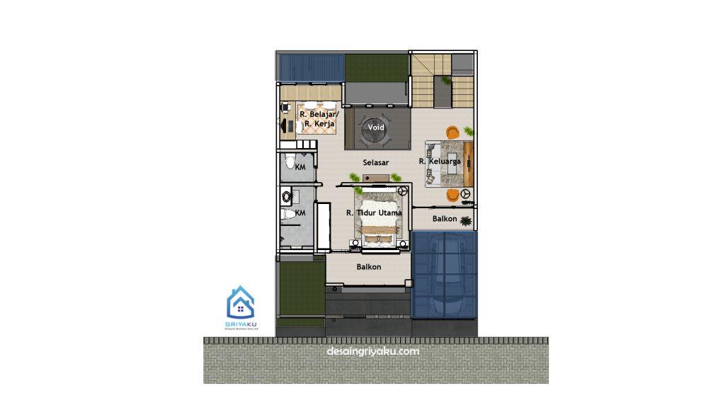 denah lt2 rumah 9x12 1024x576 - Rumah 9x12 Minimalis