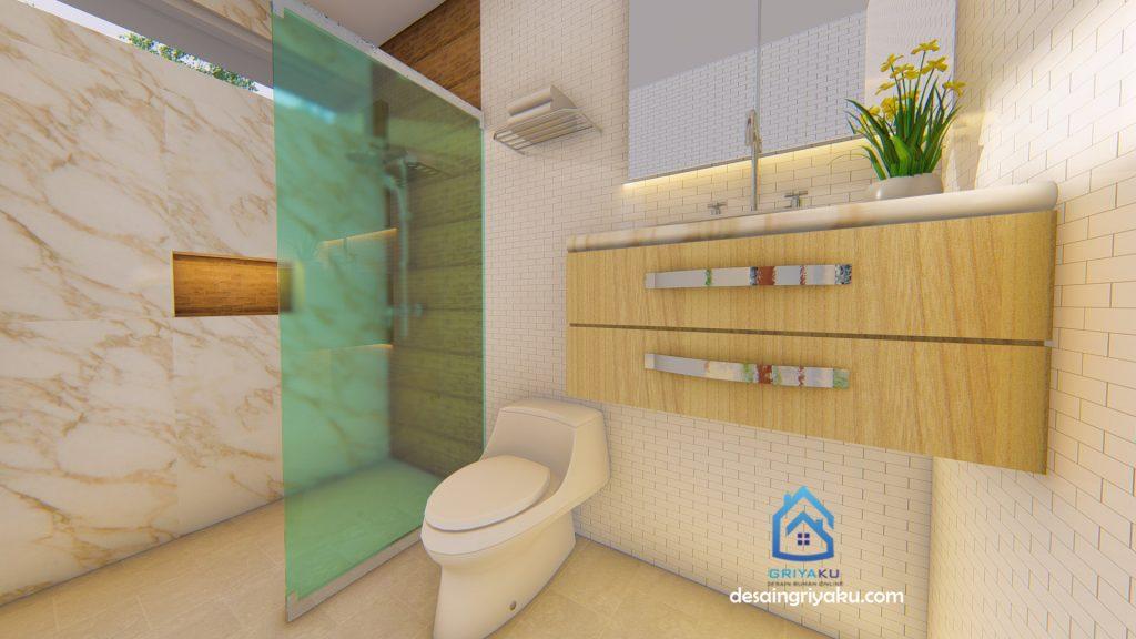 kamar mandi utama 1024x576 - Rumah 9x12 Minimalis