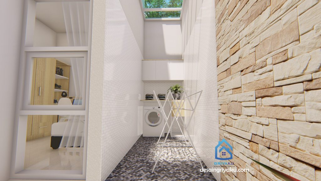 laundry 9x12 1024x576 - Rumah 9x12 Minimalis