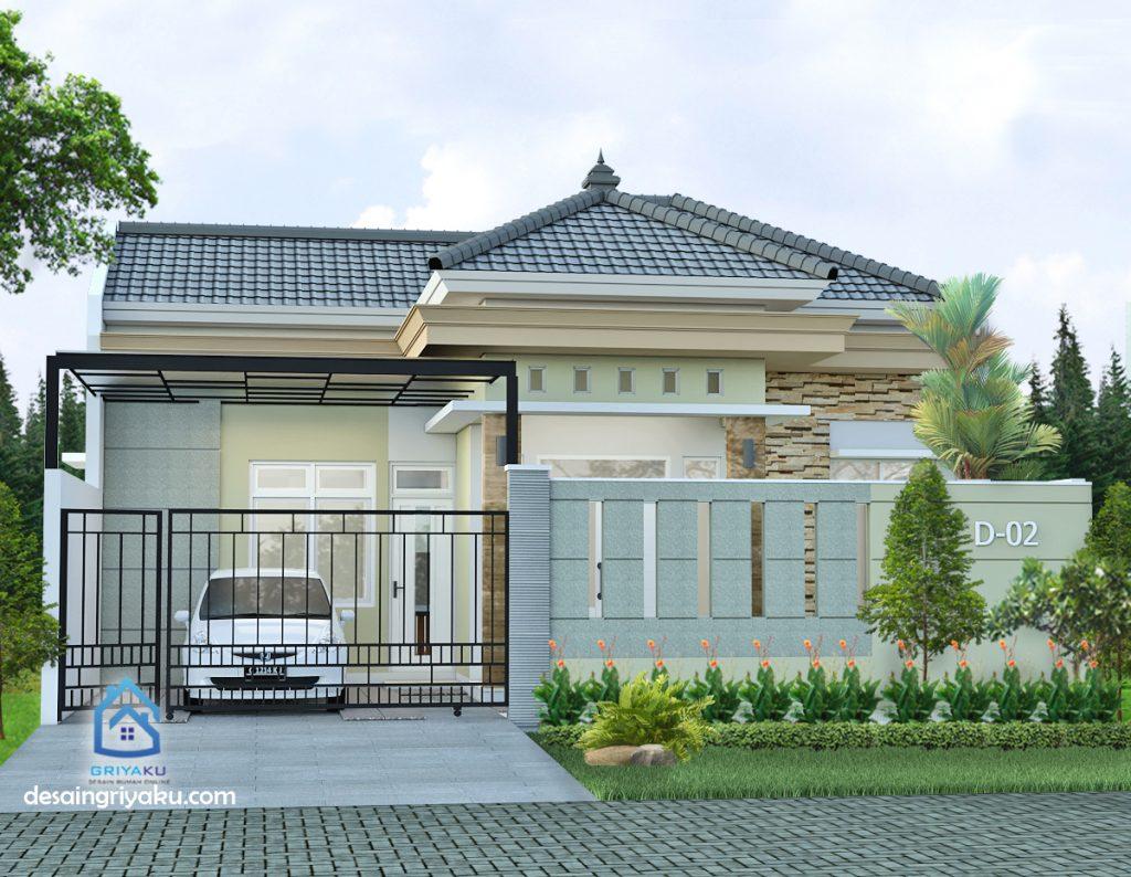 rumah 10x19 mediterania 1024x794 - Rumah Lebar 10 meter