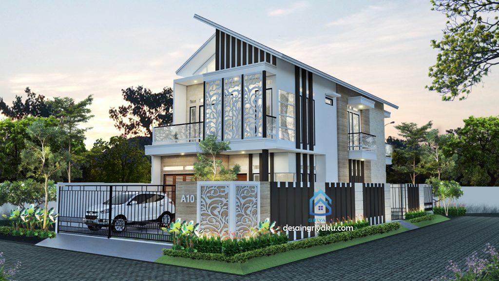 rumah 10x25 hook minimalis 1024x576 - Rumah Lebar 10 meter
