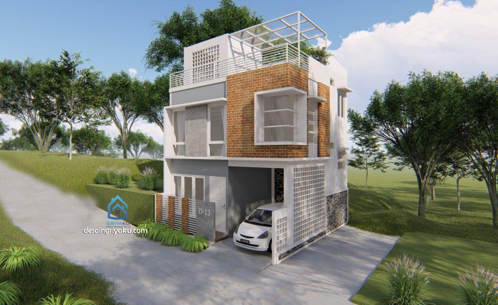 rumah 7x8 hook minimalis 1024x627 - Rumah Lebar 7 meter