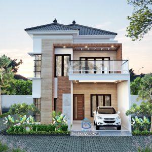 rumah 9x14 tropis 300x300 - Rumah Lebar diatas 10 meter