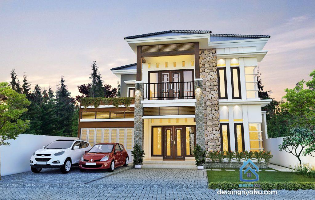 desain rumah tropis 2lantai 1024x652 - Rumah Lebar diatas 10 meter