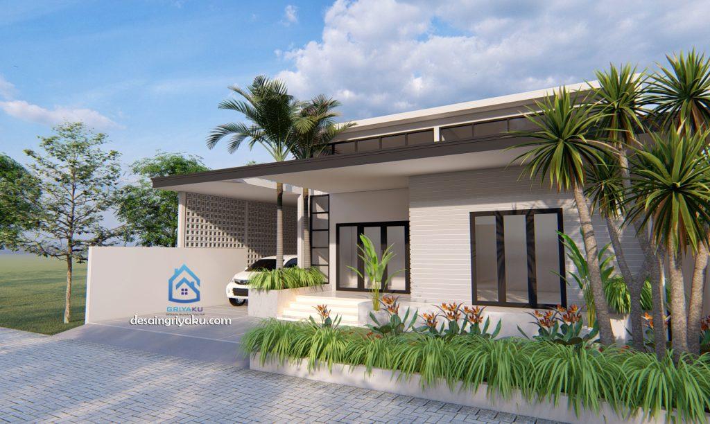 rumah kontemporer bpk ody 13x28 1 1024x612 - Rumah Lebar diatas 10 meter