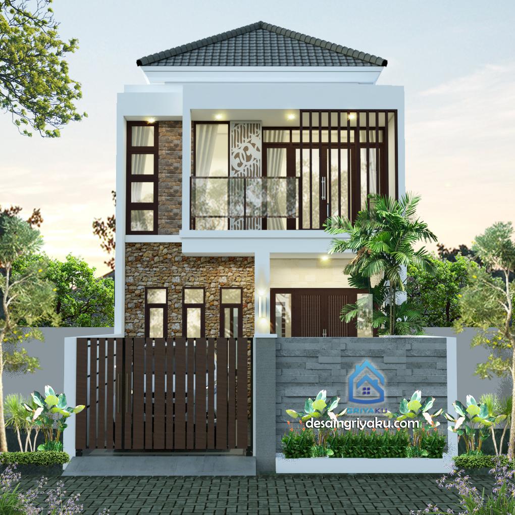 Rumah 6 x 20 Minimalis Tropis 2 Lantai - Rumah Lebar 6 meter
